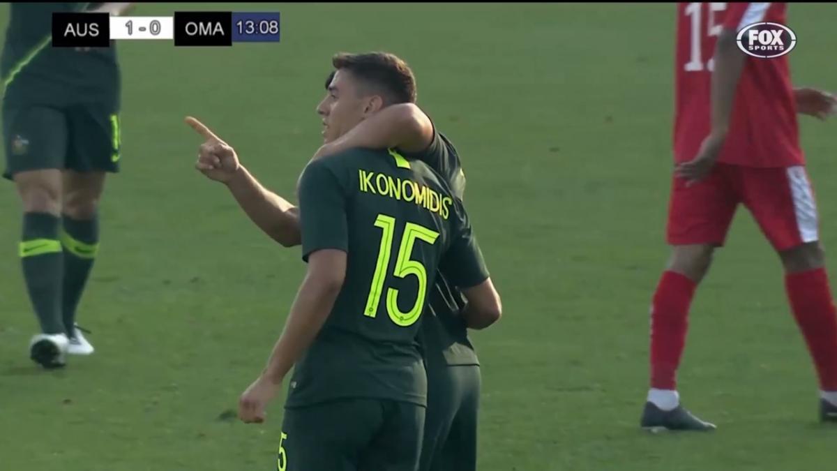 Chris Ikonomidis' debut Socceroos goal