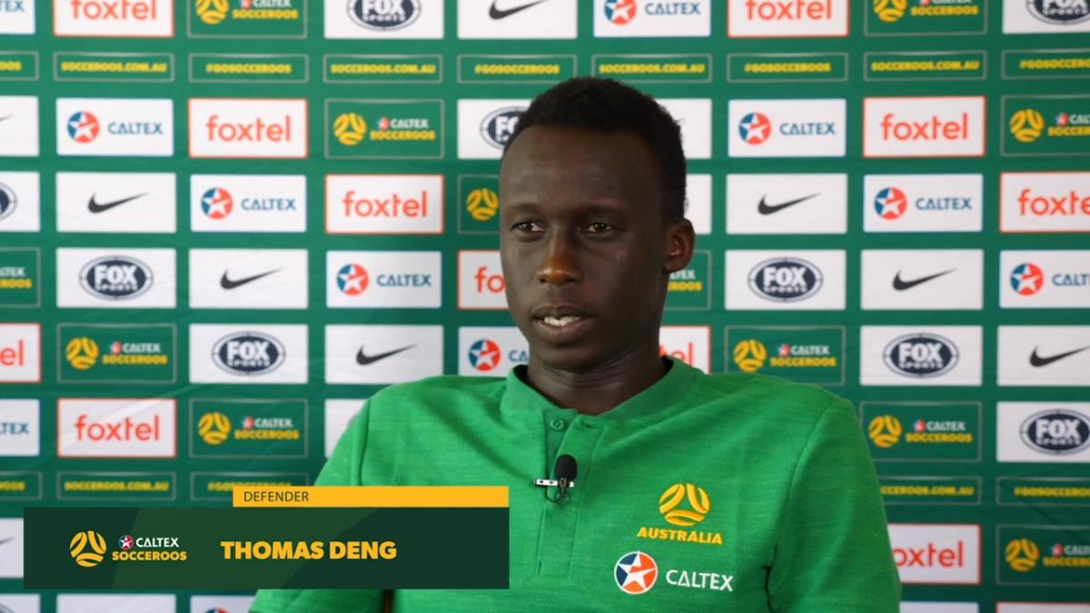 Thomas Deng enjoying the Adelaide connection