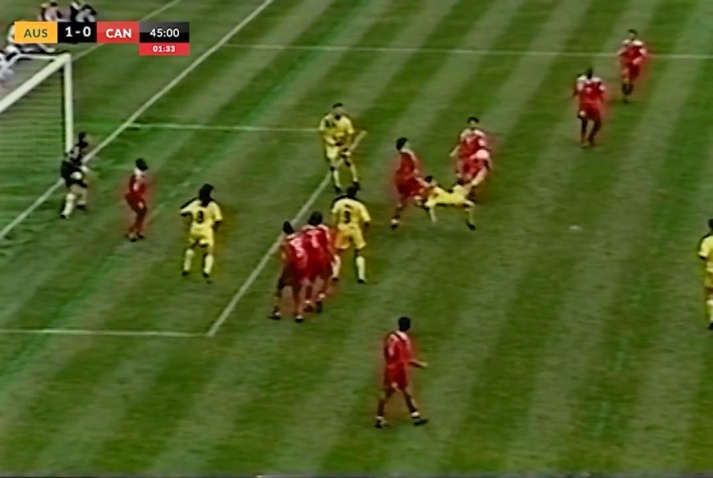Frank Farina's overhead goal gives Socceroos lead over Canada FIFA World Cup 1994 play-off