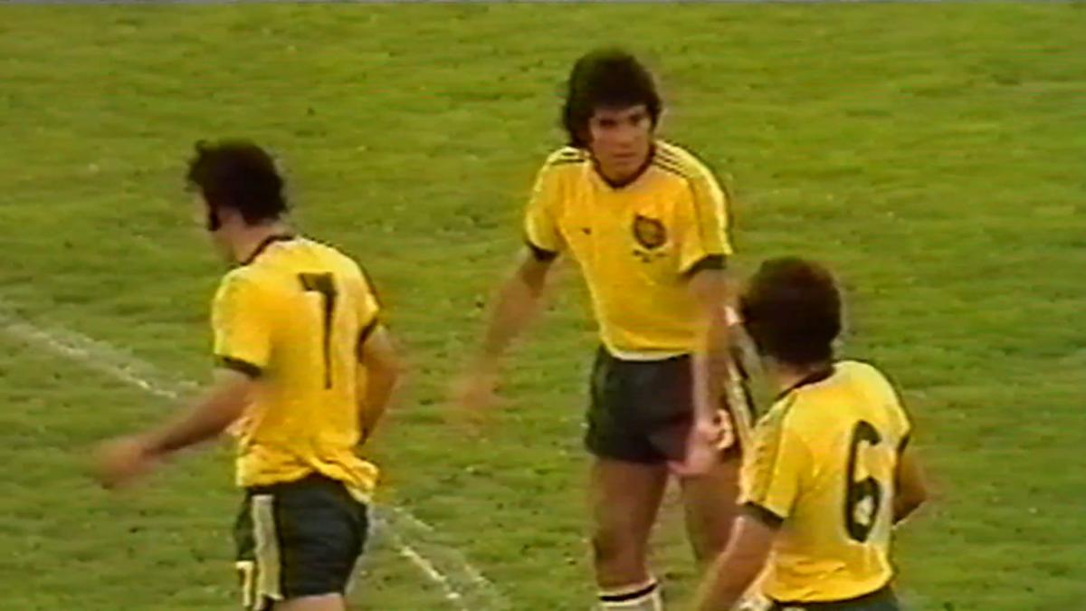 Johnny Warren in action during Socceroos' first-ever FIFA World Cup match in 1974