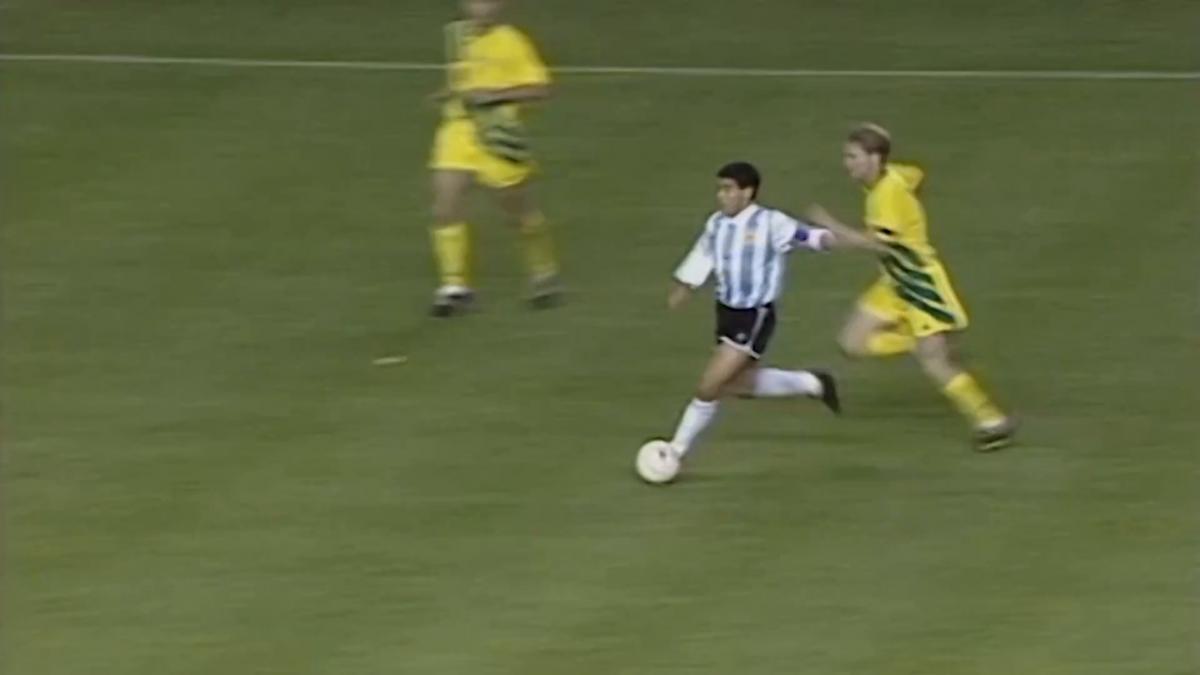 Diego Maradona's highlights v Socceroos in FIFA World Cup 1994 play-off
