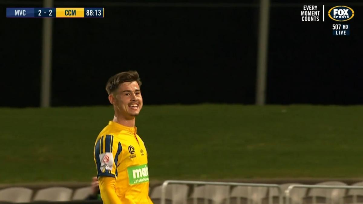 Young Socceroo Dylan Ruiz-Diaz scores Mariners' winner v Victory