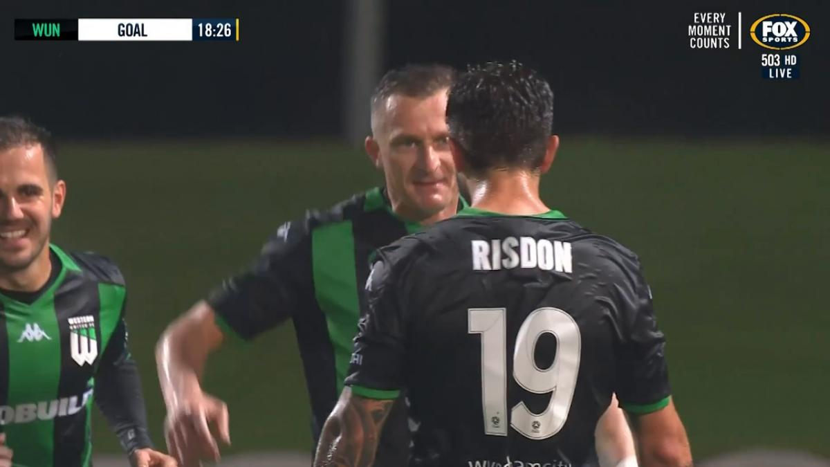Josh Risdon assists Besart Berisha to double Western United FC's lead