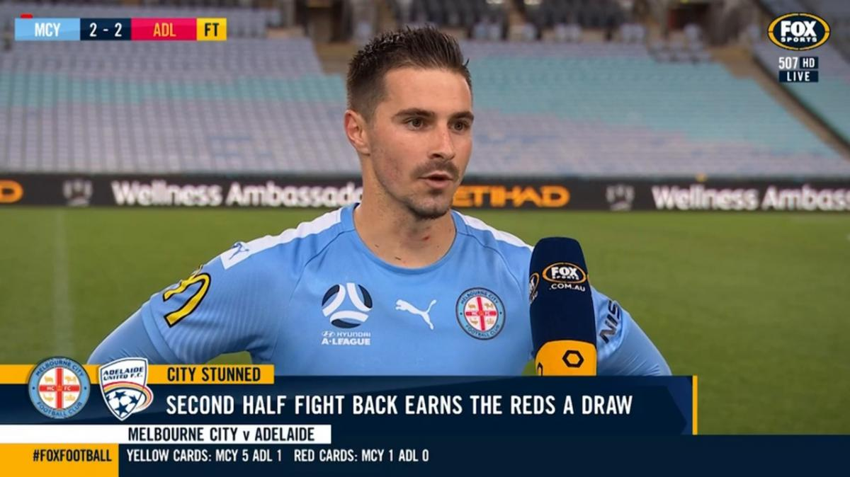 Jamie Maclaren reflects on Melbourne City FC's draw with Adelaide United