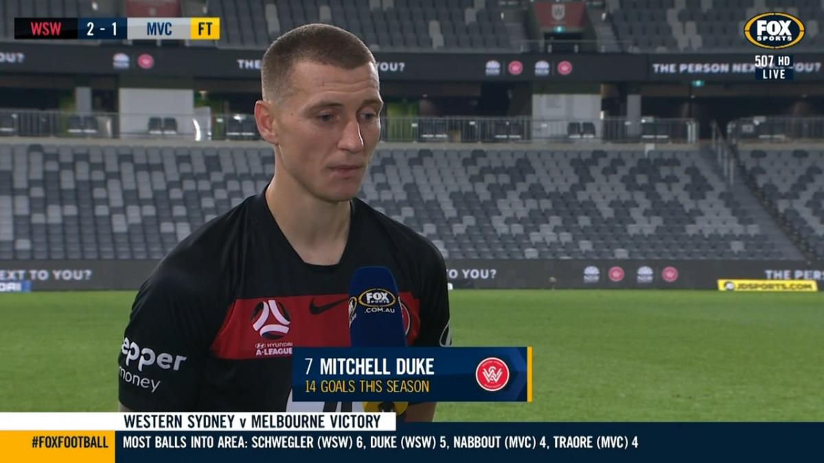 Mitchell Duke after final Hyundai A-League 2019/20 Season game: I will miss the club and where I grew up
