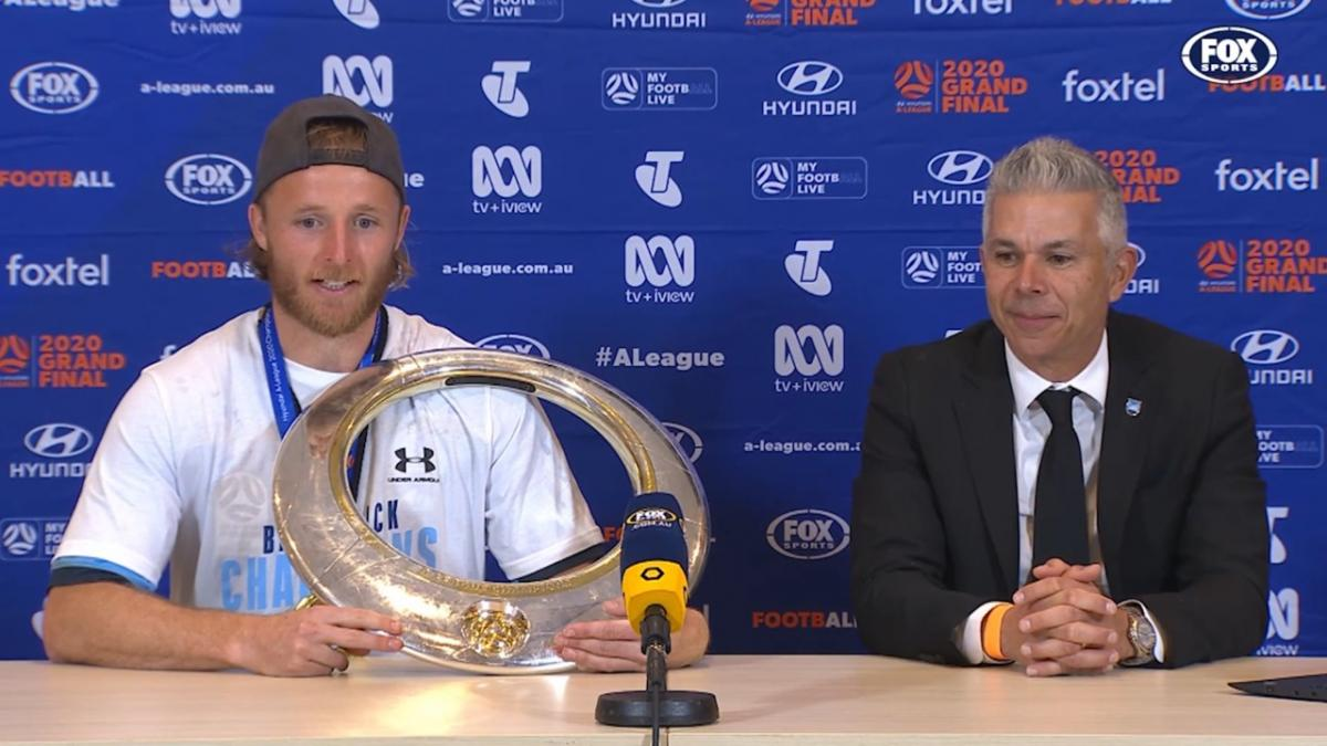 Rhyan Grant and Steve Corica's Press Conference after winning Hyundai A-League 2020 Grand Final