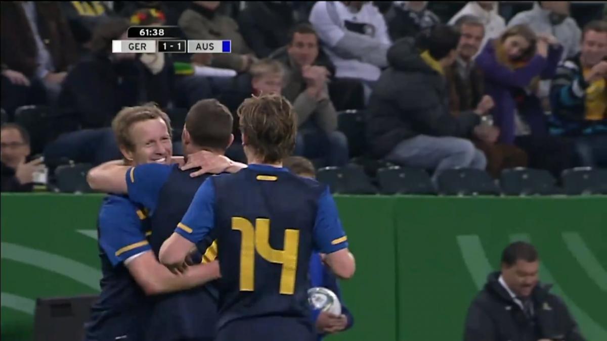 David Carney equalises for Socceroos v Germany in 2011 International Friendly