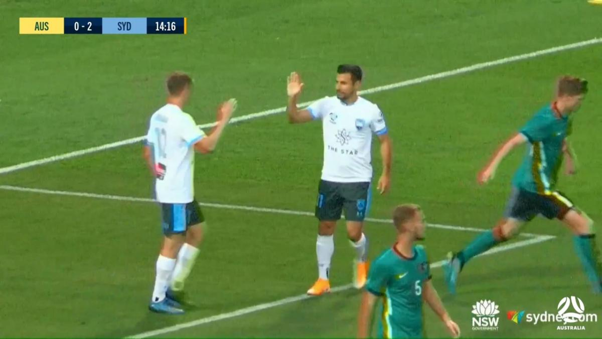 GOAL: Buhagiar - Sydney race to a two-goal advantage
