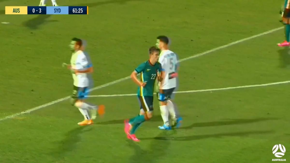 CHANCE: Olyroos threaten from the corner