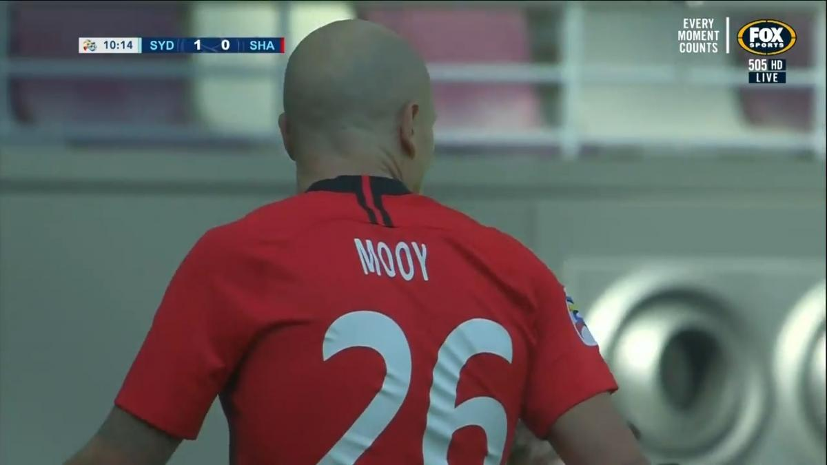 Aaron Mooy assists goal as Shanghai SIPG defeats Sydney FC in AFC Asian Champions League