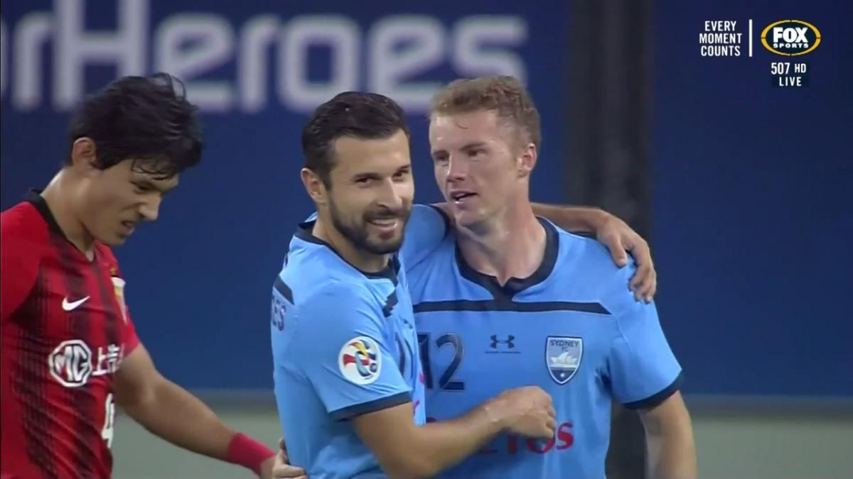 Australia U-23's Trent Buhagiar scores double in Sydney FC's ACL record win over Shanghai SIPG