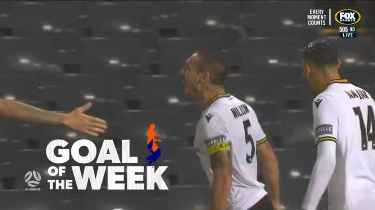 Former Socceroos captain Mark Milligan scores A-League's Goal of the Week
