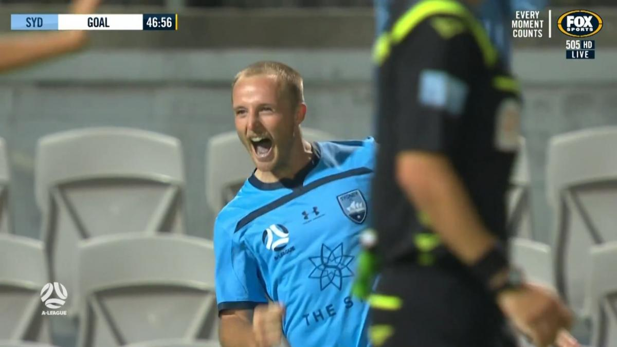 Rhyan Grant scores in 200th A-League game
