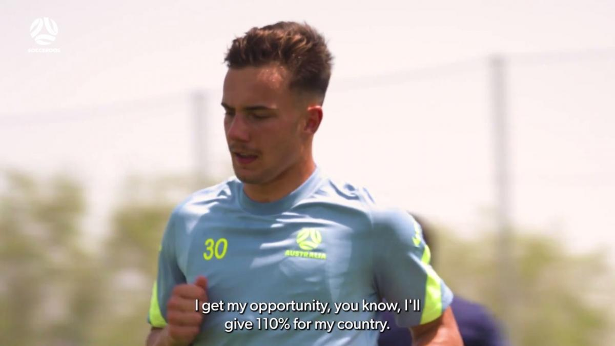 Denis Genreau and Ruon Tongyik's second session after arriving in Socceroos camp