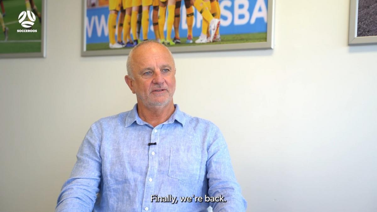 Graham Arnold: 'Finally, we're back'