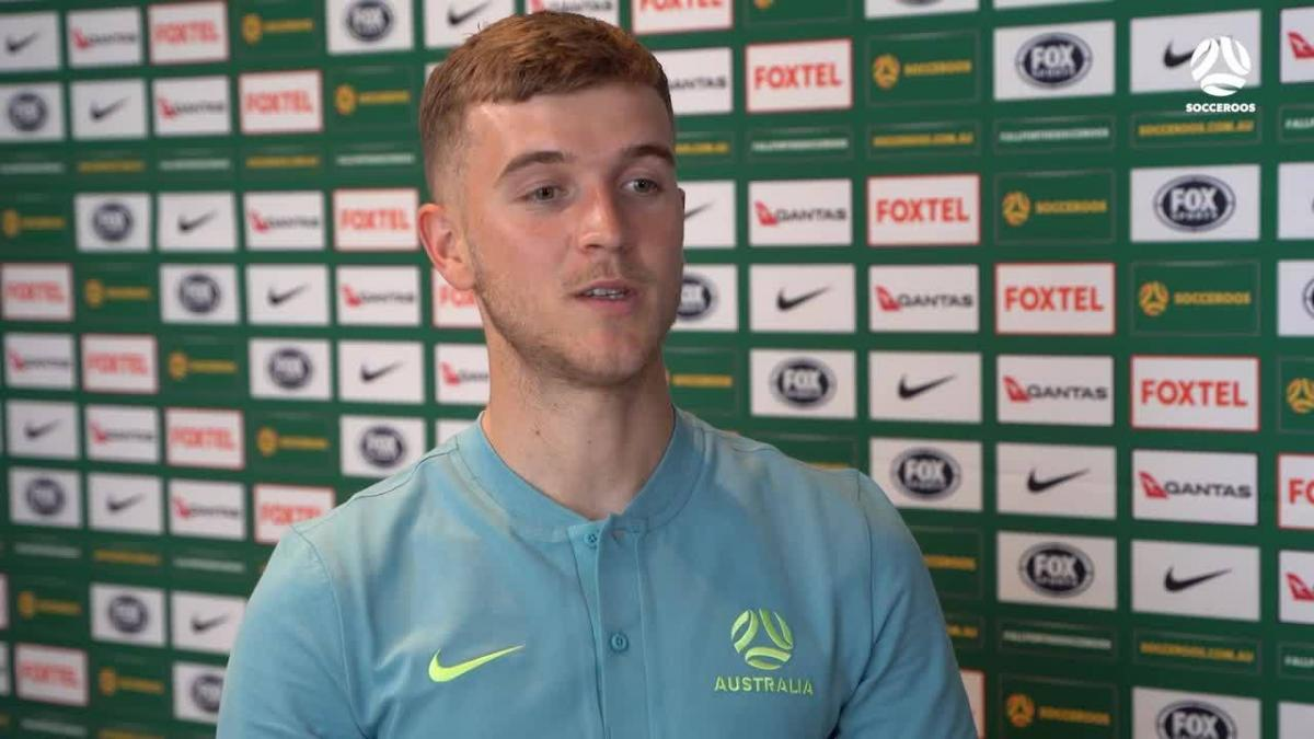 Riley McGree reacts to Socceroos call-up | Interview