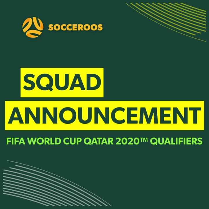 Socceroos Squad Announcement for June FIFA World Cup Qualifiers
