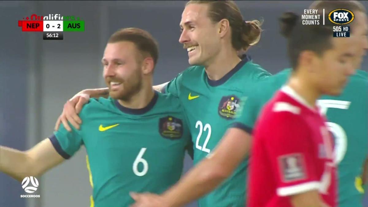 Maty Ryan superbly saves Ajdin Hrustic's acrobatic effort