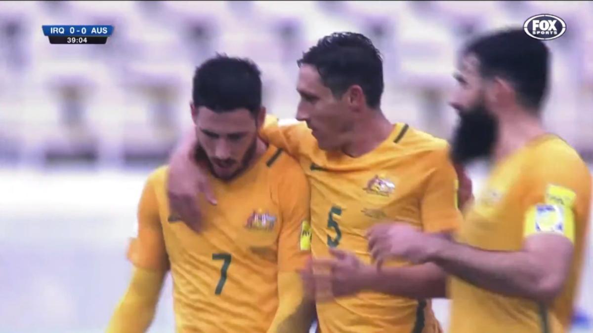 GOAL: Jackson Irvine bundles in Socceroos' second goal from Martin Boyle penalty | Australia v Kuwait
