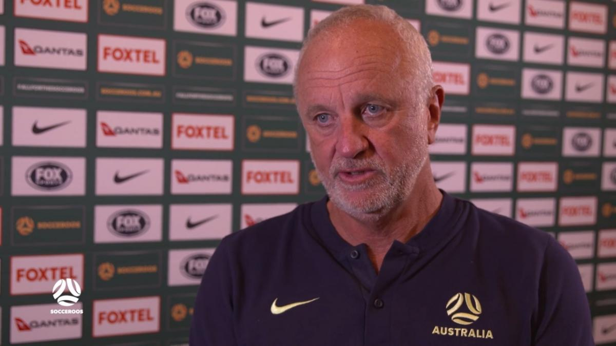Graham Arnold 'very proud' of Socceroos performance | Interview | Australia v Chinese Taipei