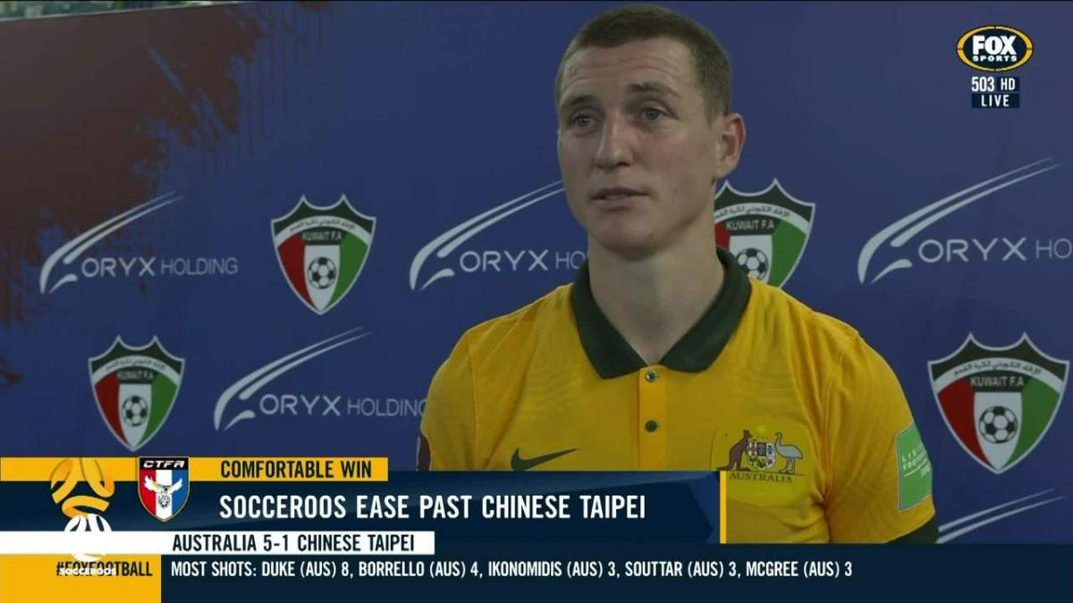 Mitchell Duke wants more goals following Socceroos brace | Interview | Australia v Chinese Taipei