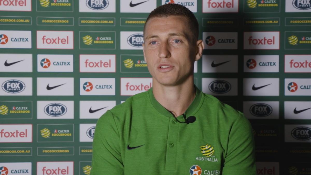 GOAL: Ajdin Hrustic and Nikita Rukavytsya set up Mitchell Duke for lovely second goal | Australia v Chinese Taipei