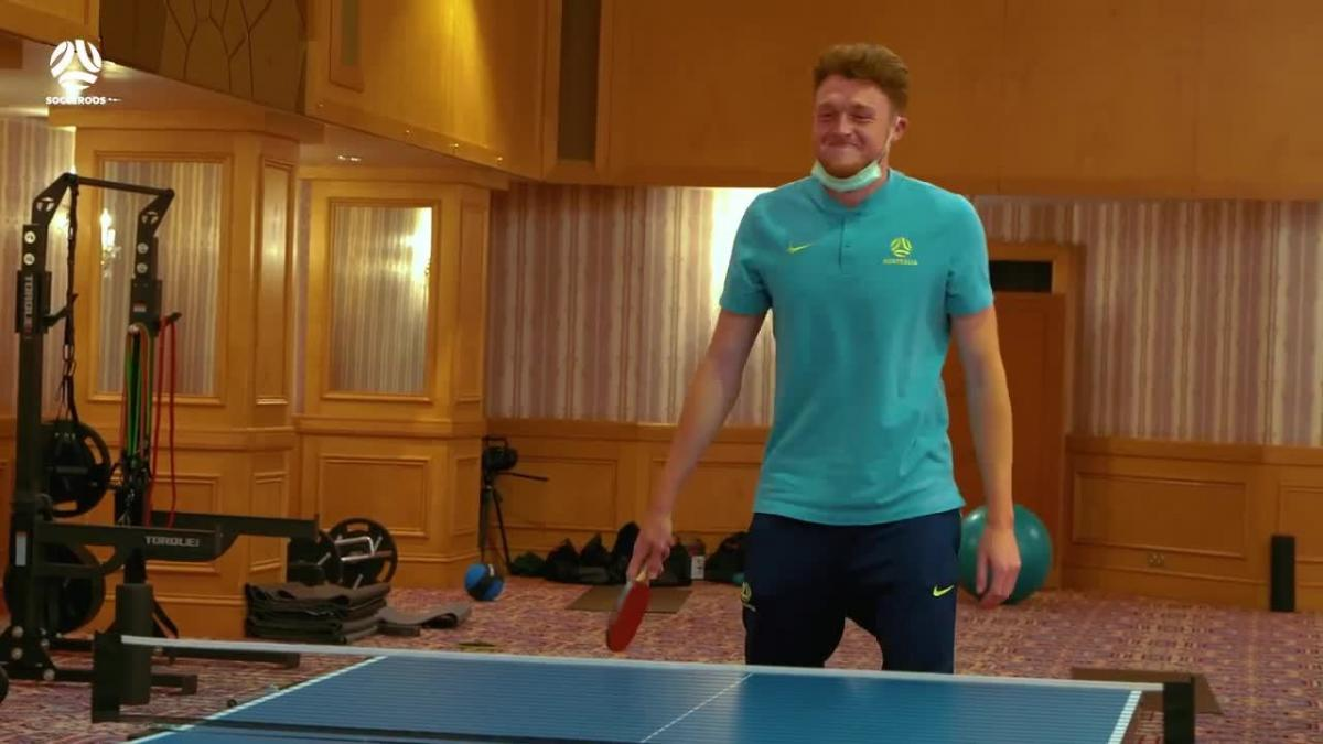 Harry Souttar comments on his impressive table tennis ability   Socceroos Insider