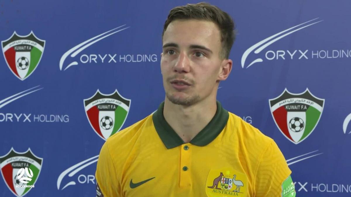 Denis Genreau reflects on 'massive honour' after debuting for Socceroos | Interview | Australia v Chinese Taipei