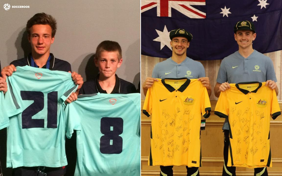 Denis Genreau and Connor Metcalfe reminisce on shared journey after receiving Socceroos debutant caps