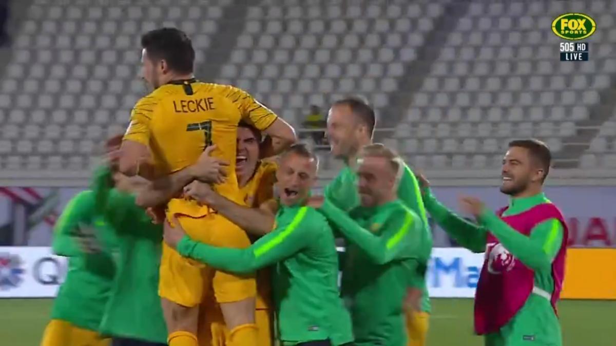 Ajdin Hrustic's cheeky nutmeg | Highlights | Socceroos v Jordan | FIFA World Cup qualifier