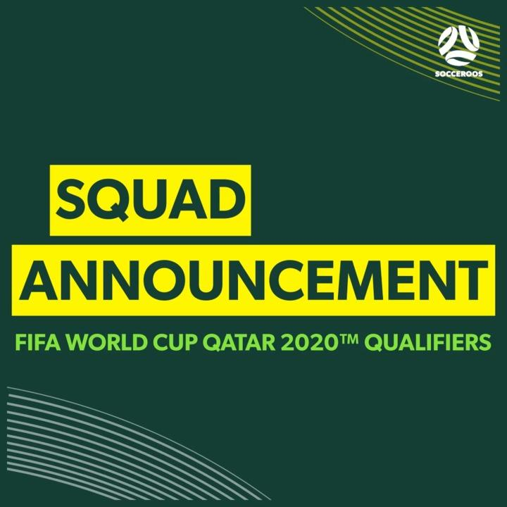 Confirmed: The Socceroos squad for October's World Cup Qualifiers