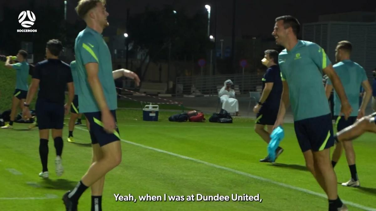 Ryan McGowan bringing the banter into Socceroos camp