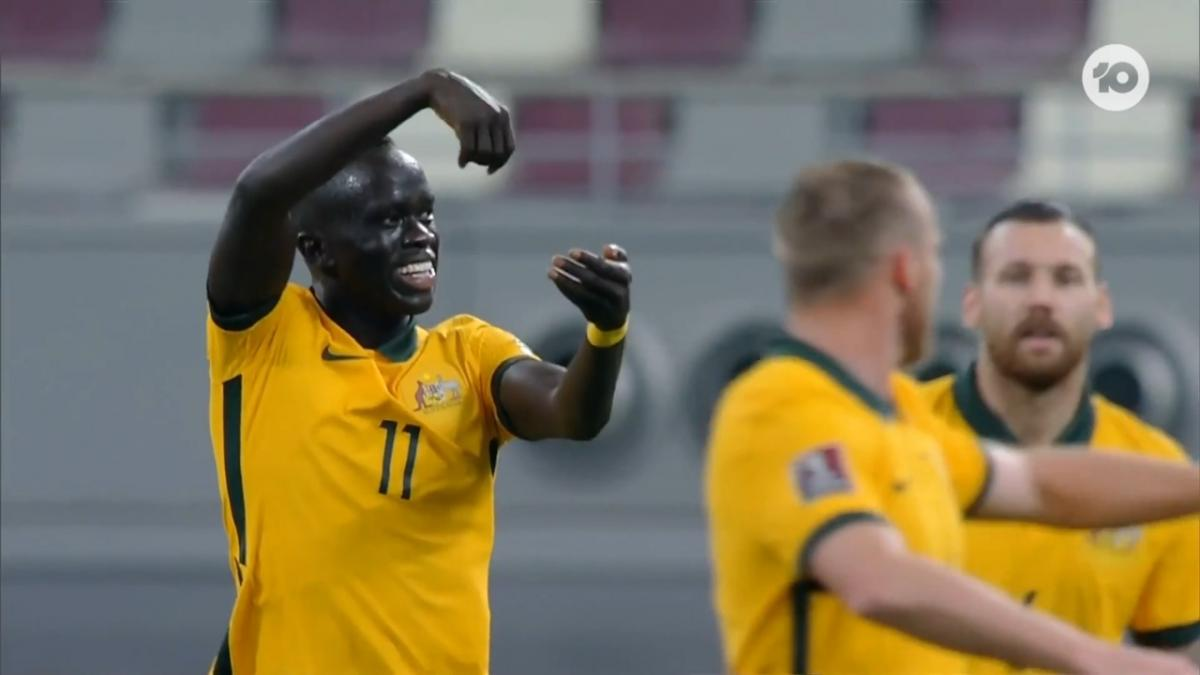 GOAL: Mabil - Socceroos off to a flyer