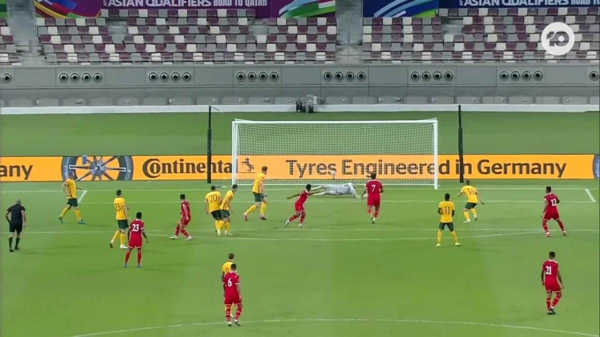 Maty Ryan's sharp saves for the Socceroos against Oman