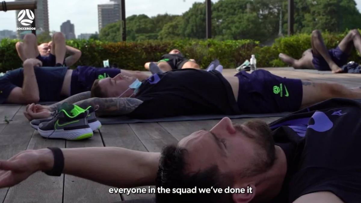 The Socceroos' relaxing yoga session