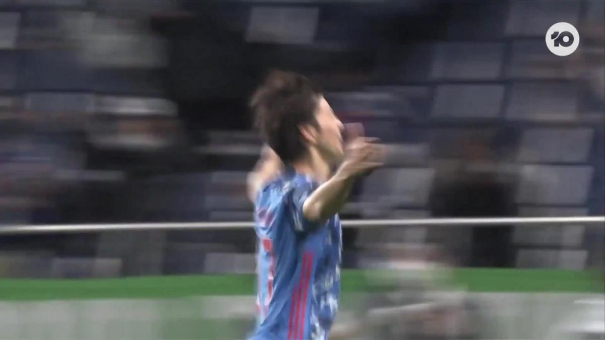 GOAL: Ao Tanaka opens the scoring for Japan