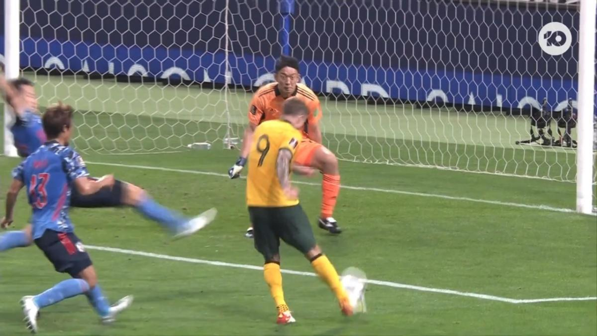 CHANCE: Taggart so close to Aussie equaliser