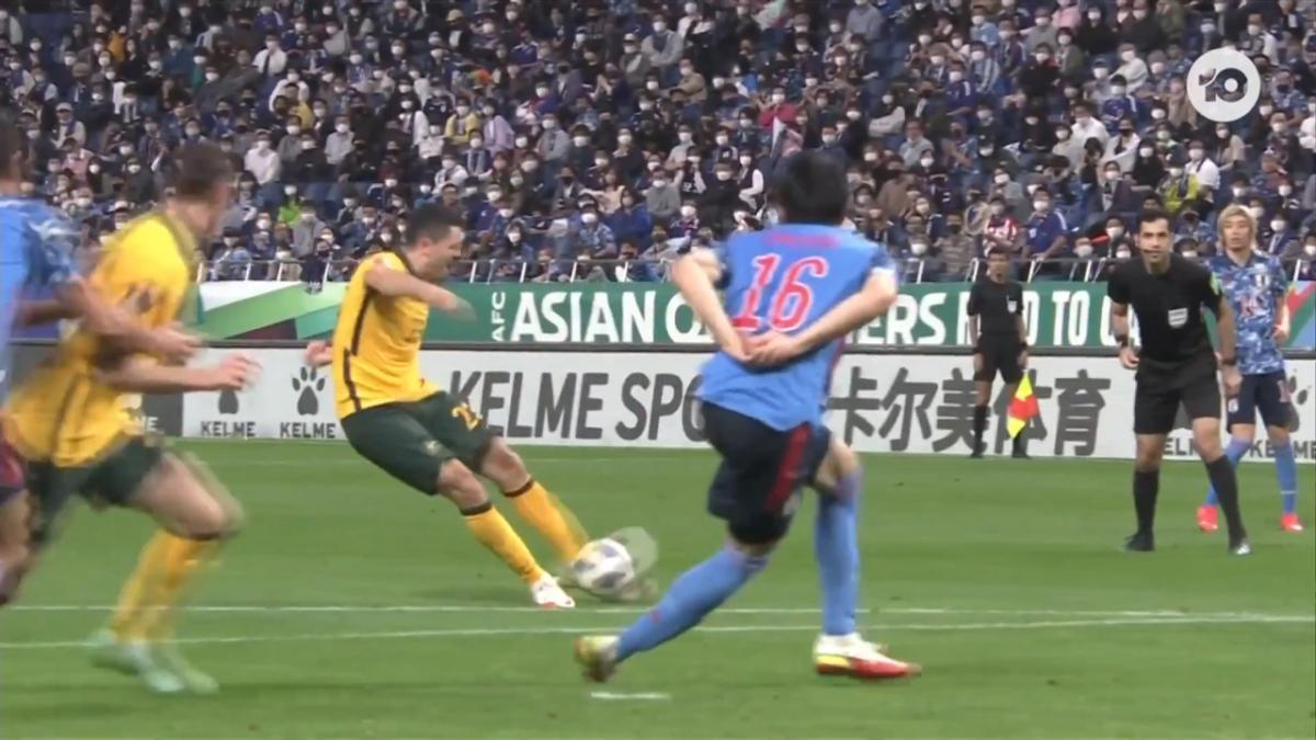 CHANCE: Rogic goes close for Socceroos