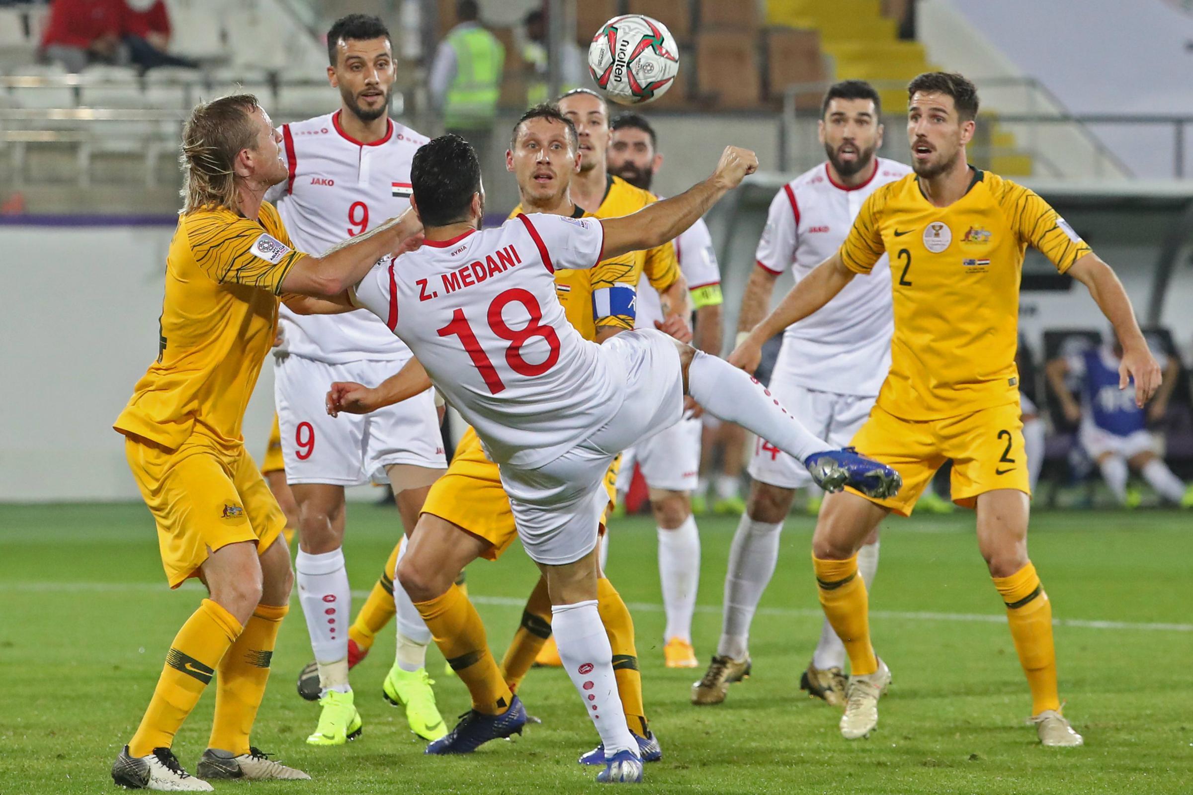 Socceroos win five-goal thriller over Syria