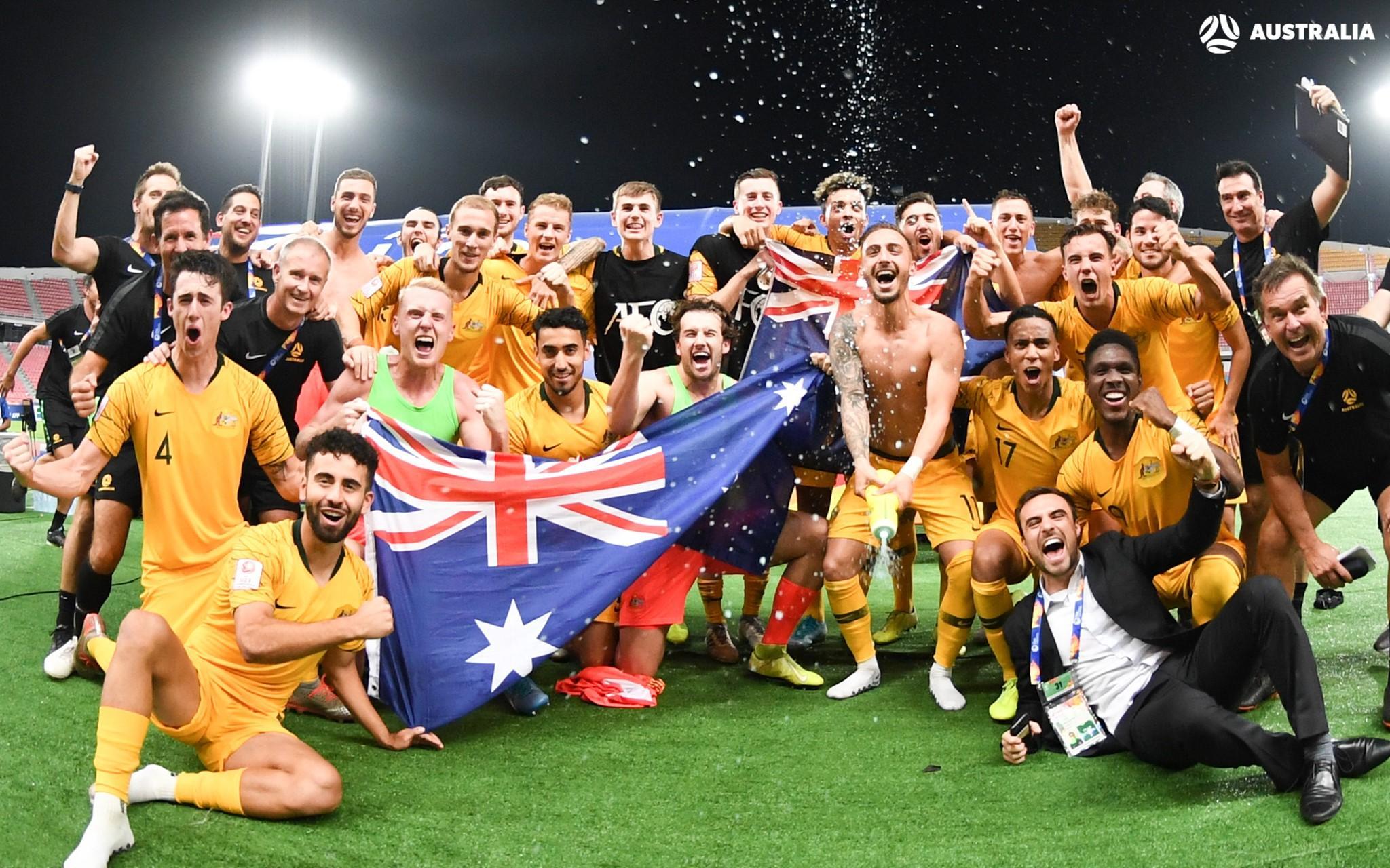 Australia U-23's celebrate