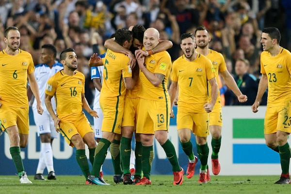 Who do the Caltex Socceroos join at the 2018 FIFA World Cup?