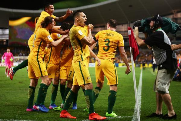 Caltex Socceroos celebrate a goal