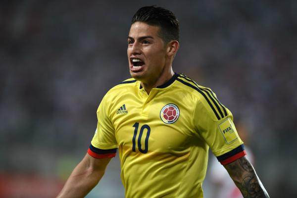 Colombian skipper James Rodriguez