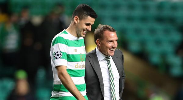 Tom Rogic and Brendan Rodgers