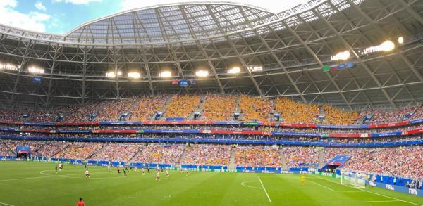 Australia fans in Russia