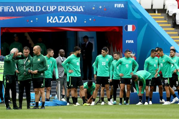 Socceroos train in Kazan