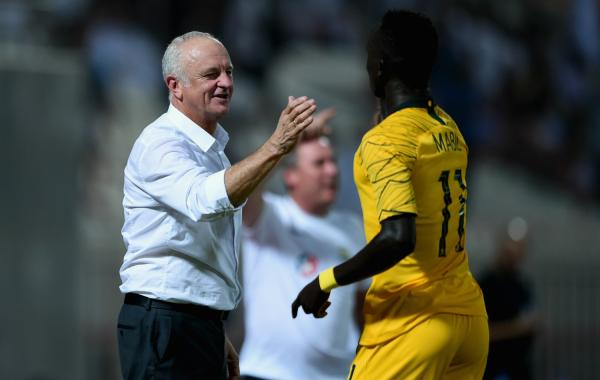 Graham Arnold and Awer Mabil