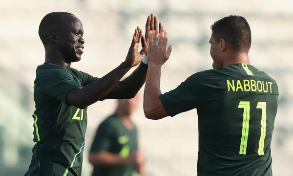 Awer Mabil and Andrew Nabbout