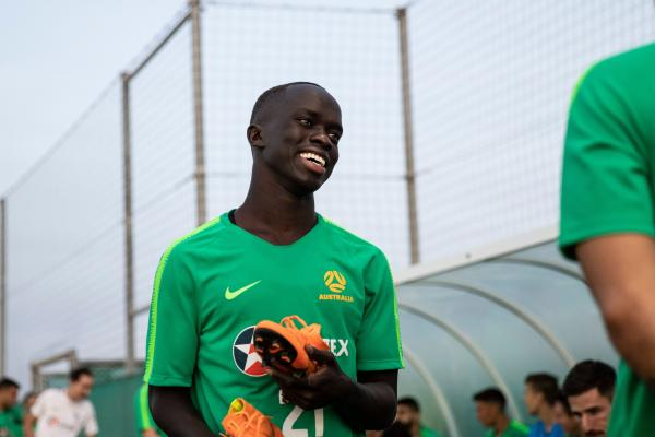 Smiling winger ready to get down to serious business in the UAE