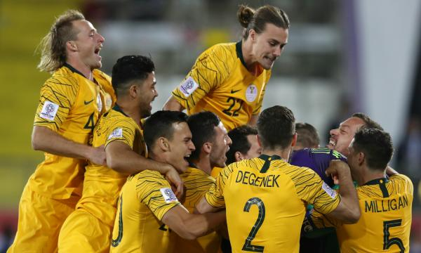 Socceroos celebrate